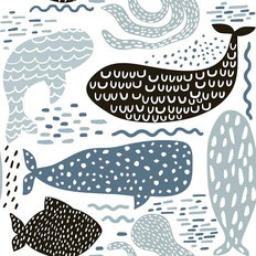 Sea Animal Pattern Wallpaper