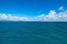 Seascape Blue Sky Wallpaper Mural