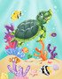 Sea Turtle Swim Mural Wallpaper