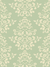 Seafoam Damask Pattern Wallpaper