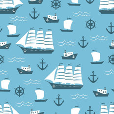 Sailing Ships Pattern Wallpaper