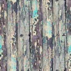 Old Wood With Blue Chipped Paint Wallpaper Mural