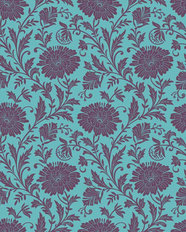 Antique Floral Pattern Wallpaper
