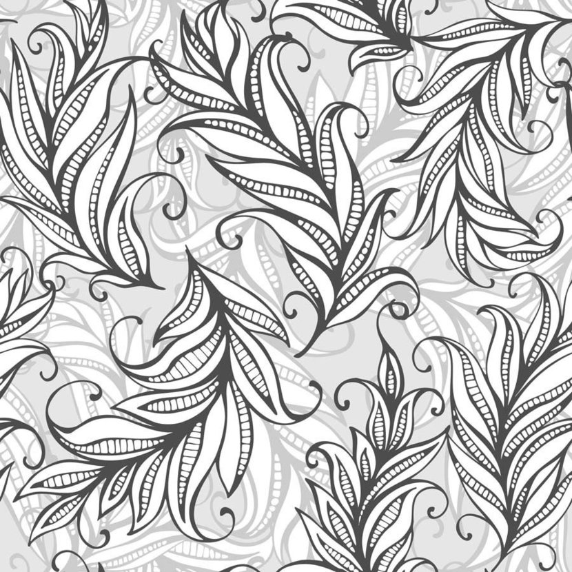 Curly Feather Pattern