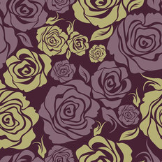 Royal Rose Pattern Wallpaper