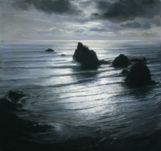 Seascape By Night Wall Mural