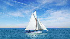 Sailboat Seascape Wall Mural