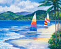 Seaside Sails Mural Wallpaper