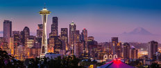 Seattle Dawn Mural Wallpaper