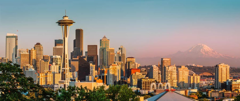 Seattle Evening Wallpaper Mural