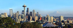 Seattle Skyline Panorama Mural Wallpaper