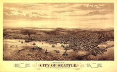 Seattle, WA 1878 Wall Mural