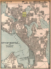 Seattle, WA 1901 Map Mural Wallpaper