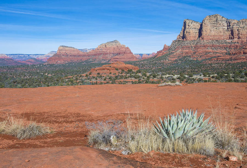 Sedona Arizona Landscape With Red Sandstone Cliffs Wall Mural