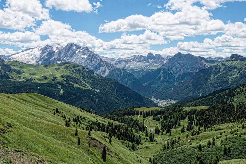 Sella Pass - Italian Dolomites and Forests Wall Mural