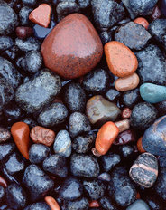 Shoreline Rocks, Beaver Bay, Lake Superior, MN Wallpaper Mural