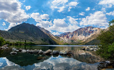 Sierra Mountains At Convict Lake Wall Mural