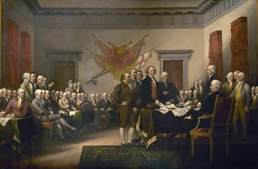 Signing the Declaration of Independence 2 Mural Wallpaper