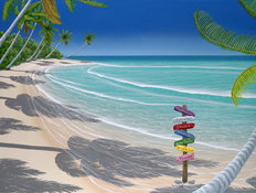 Signs Of Paradise Mural Wallpaper