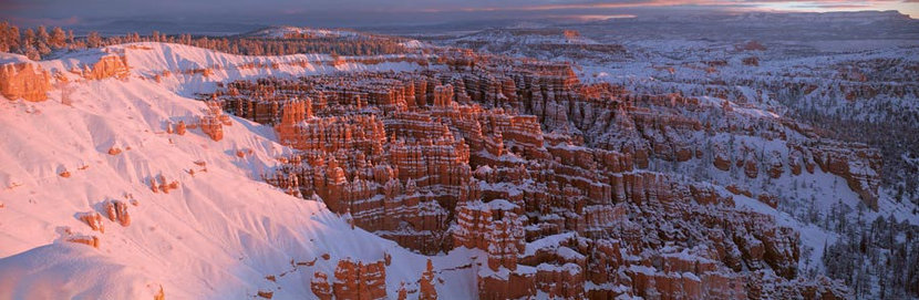 Silent City in Winter, Bryce Canyon National Park, Utah