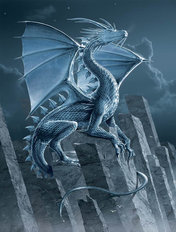 Silver Dragon Wall Mural