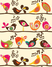 Singing Birds Mural Wallpaper
