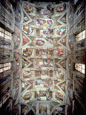 Sistine Chapel Ceiling (Post Restoration) Wall Mural