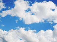 Sky With Clouds Mural Wallpaper