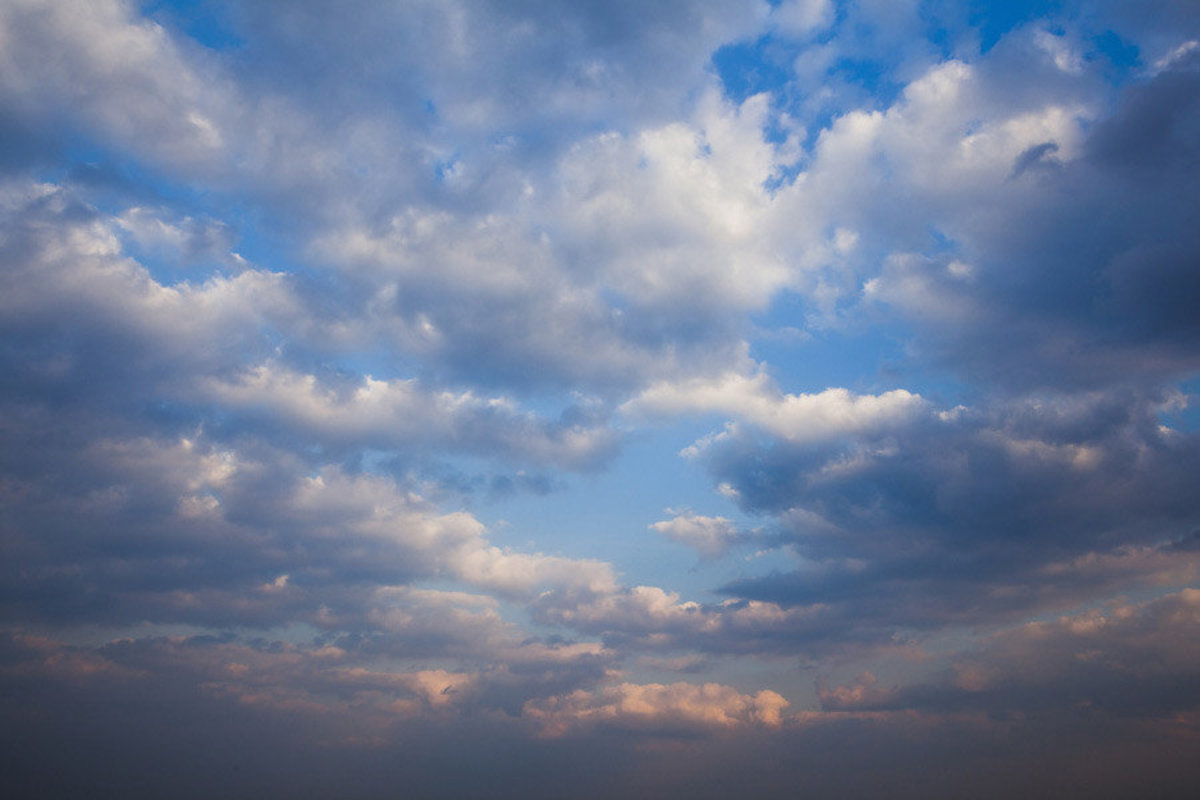 Sky With Clouds In The Evening Wall Mural