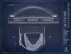 Skydome Blueprint Wall Mural