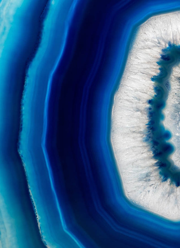Slice Of A Blue Agate Crystal Wall Mural