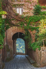 Arches in a Tuscan Village Mural Wallpaper