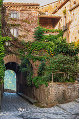 Small Alley In A Tuscan Village Wall Mural