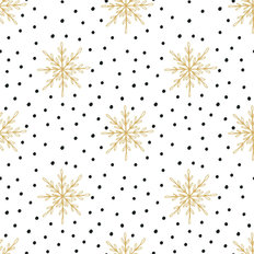 Snowflakes and Polka Dots Pattern Wallpaper