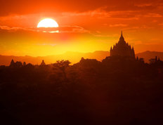 Sunset in Bagan Wallpaper Mural