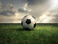 Soccer Sunlight Mural Wallpaper
