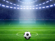 Soccer Field Lights Wallpaper Mural