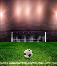 Soccer Stadium Lights Mural Wallpaper