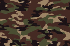 Soldier Green Camo Pattern Wallpaper