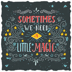 Sometimes We Need a Little Magic - Black Wall Mural