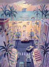 South Beach Mural Wallpaper