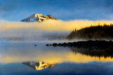 South Sister Mountain Reflection Wall Mural
