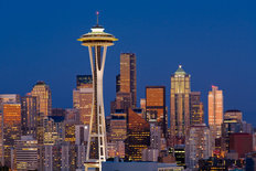 Space Needle Mural Wallpaper