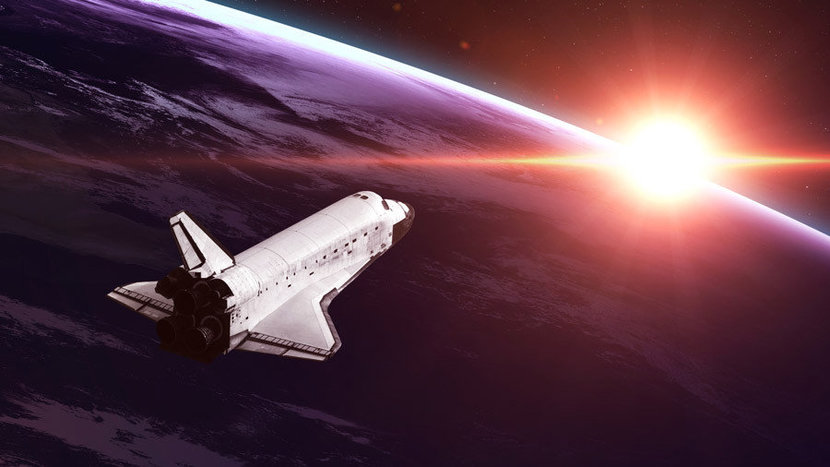 Space Shuttle On A Mission