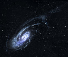 Spiral Galaxy In Outer Space Wall Mural