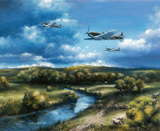 Spitfires Of The Royal Air Force Wallpaper Mural