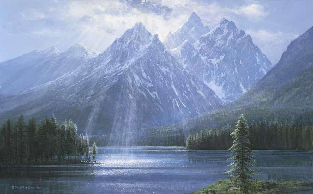 Splendor Of The Tetons Mural Wallpaper