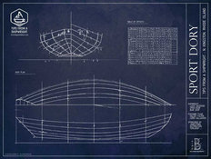 Sport Dory Blueprint Wall Mural