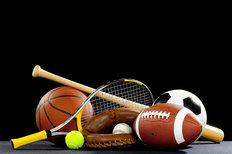 Sports Equipment Wallpaper Mural