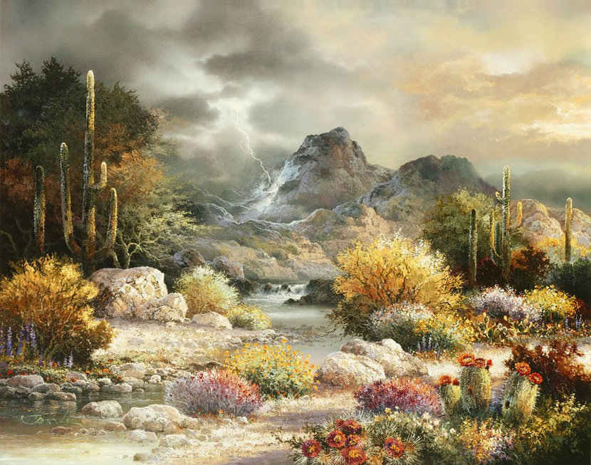 Springtime Valley Wall Mural